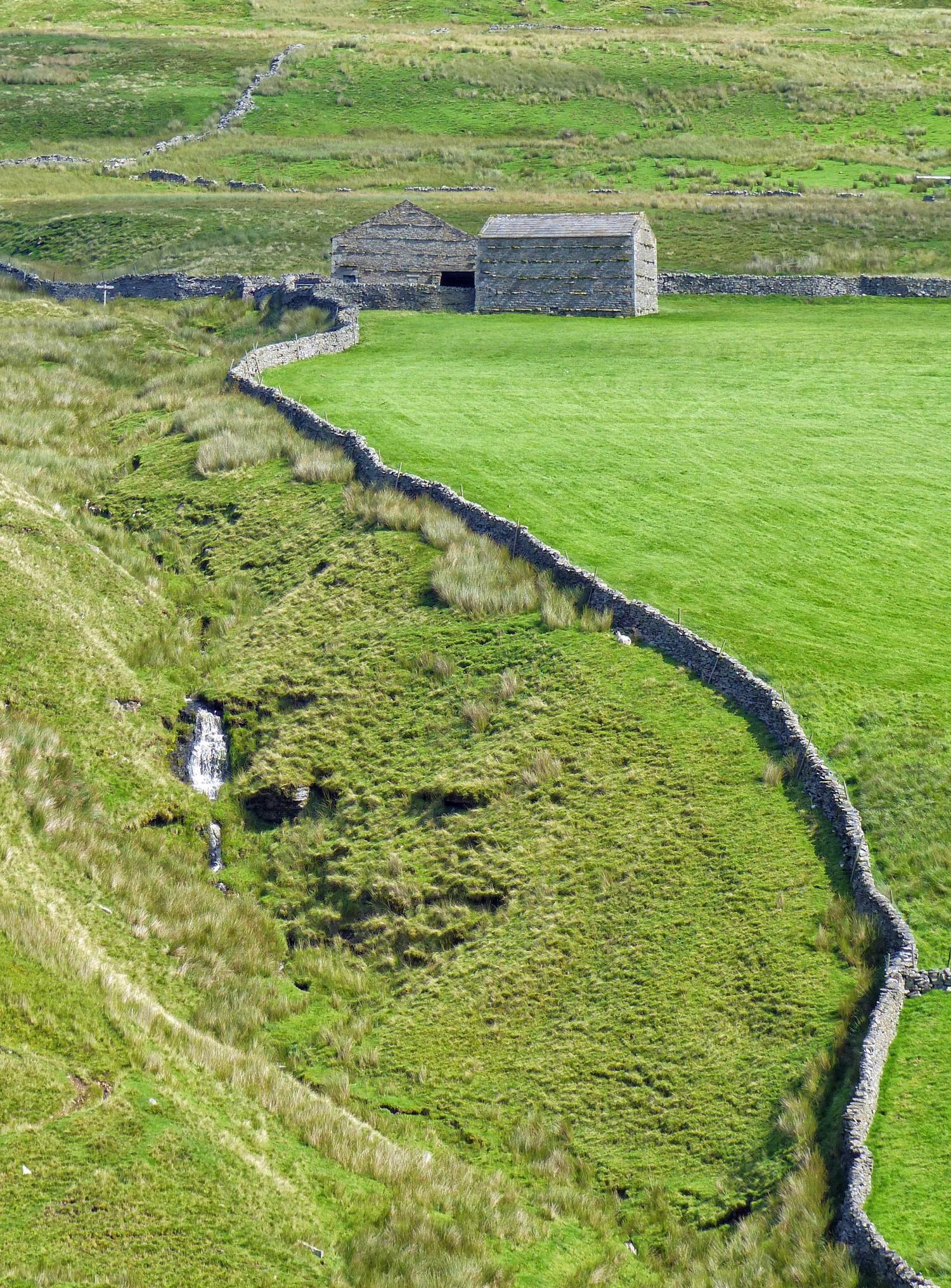 Stone barns and drystone walls