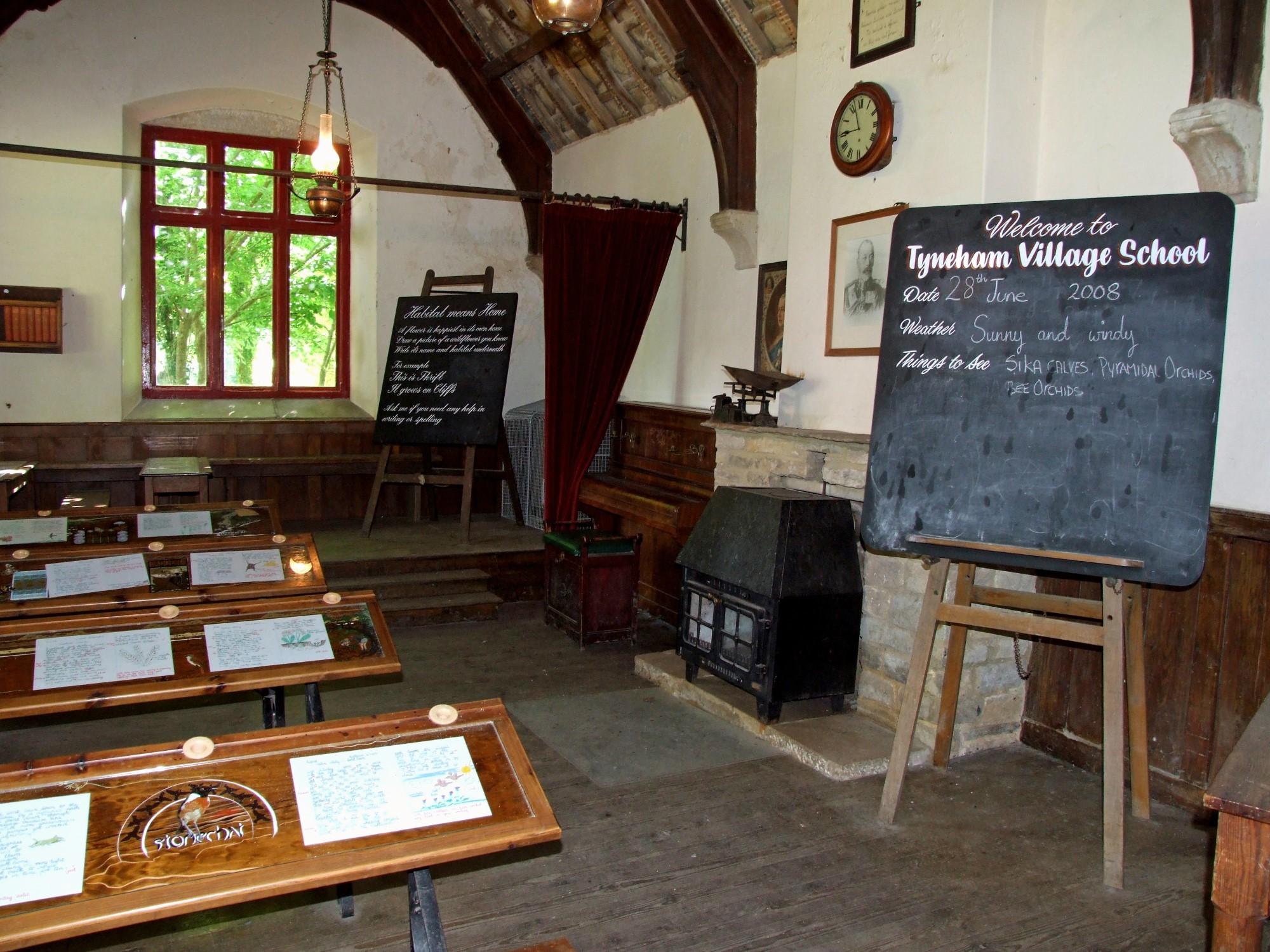 Old fashioned school classroom