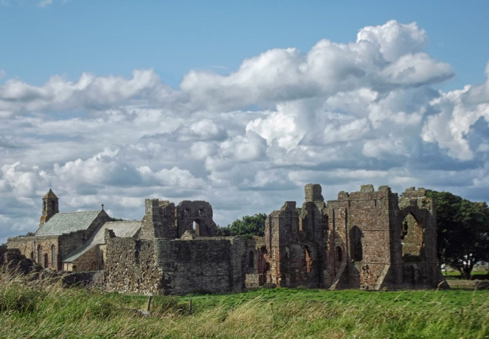 Priory ruins and church