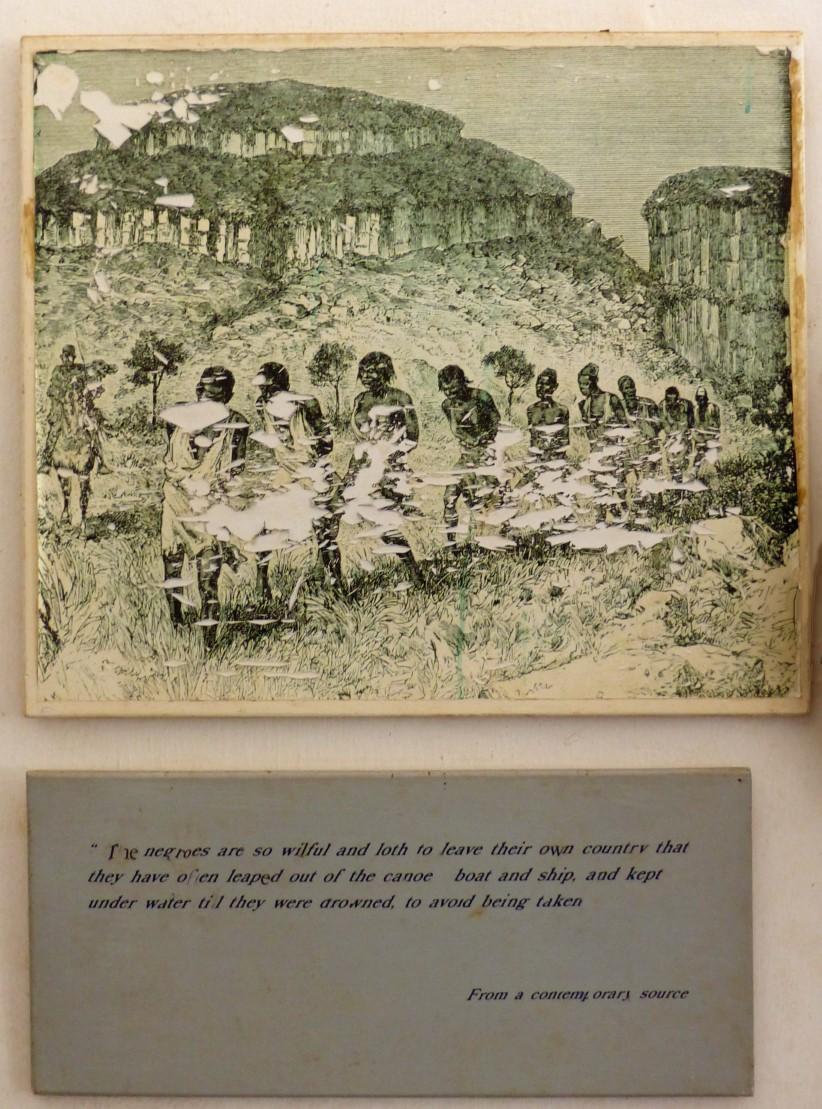 Drawing of enslaved people