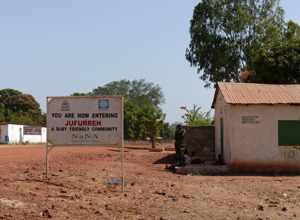 Welcome to Juffureh sign