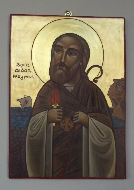 Painting of St Aidan