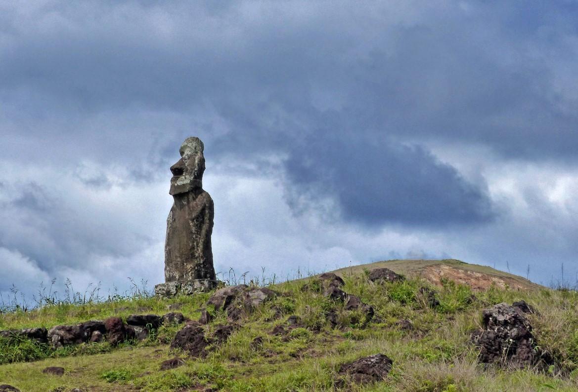 Moai on a hill