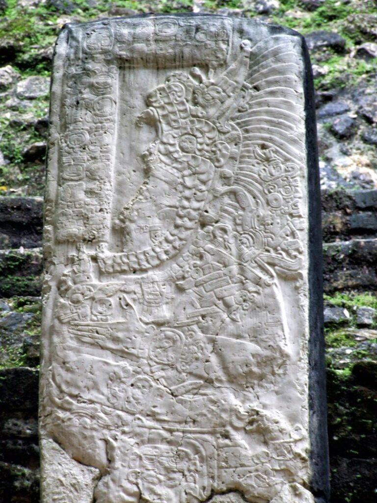Large rectangular carved stone