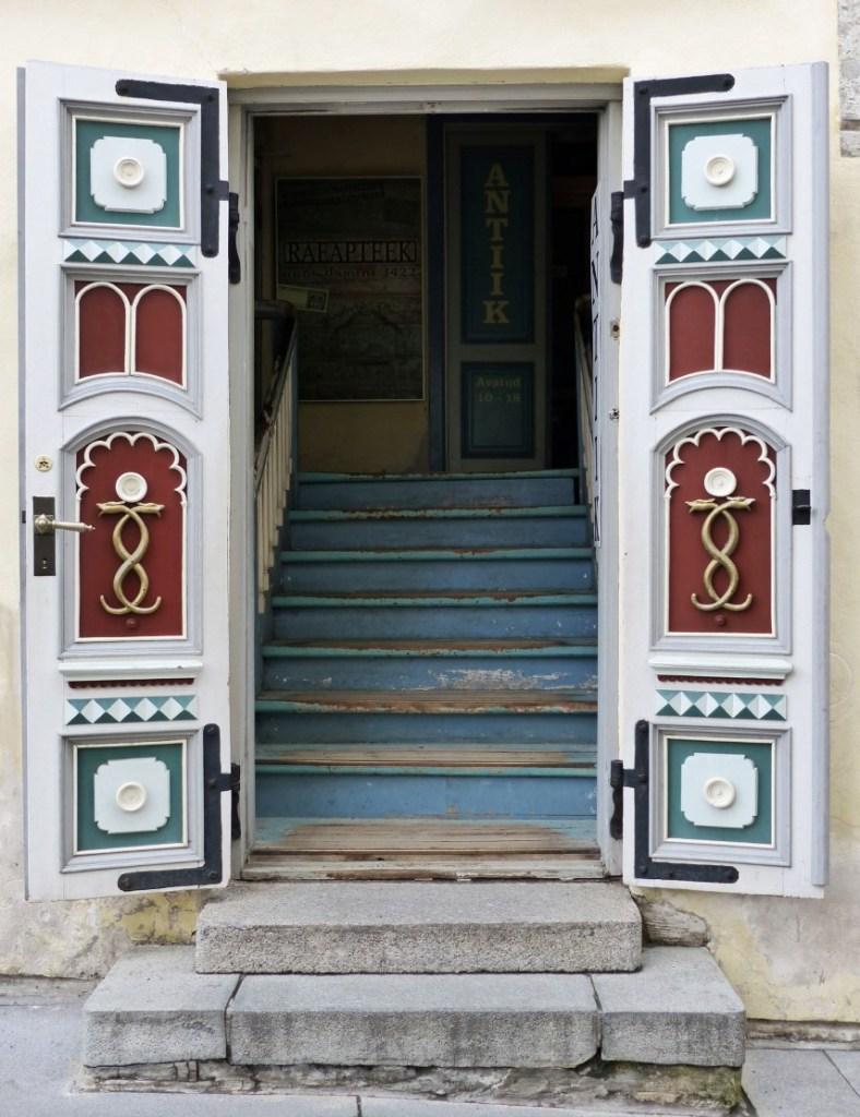 Open door with steps inside
