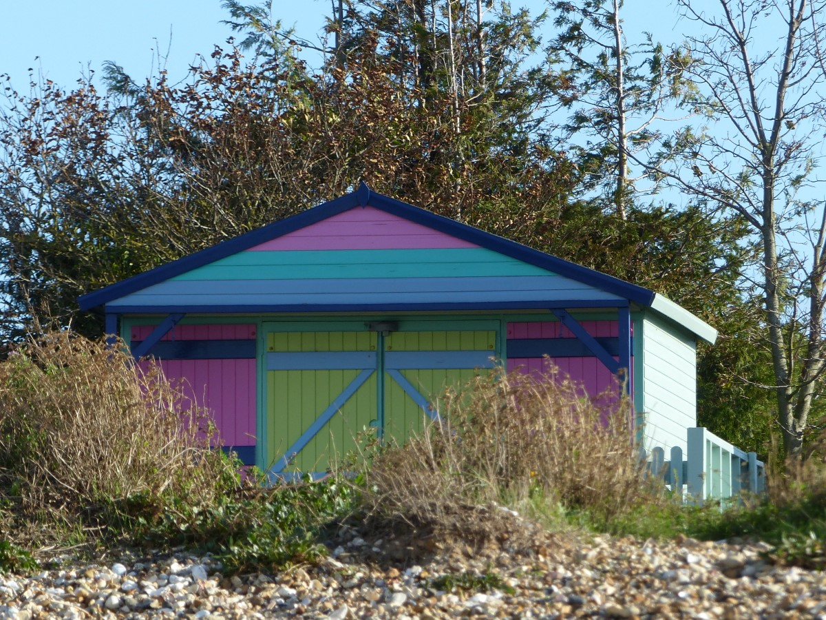 Colourful wooden hut