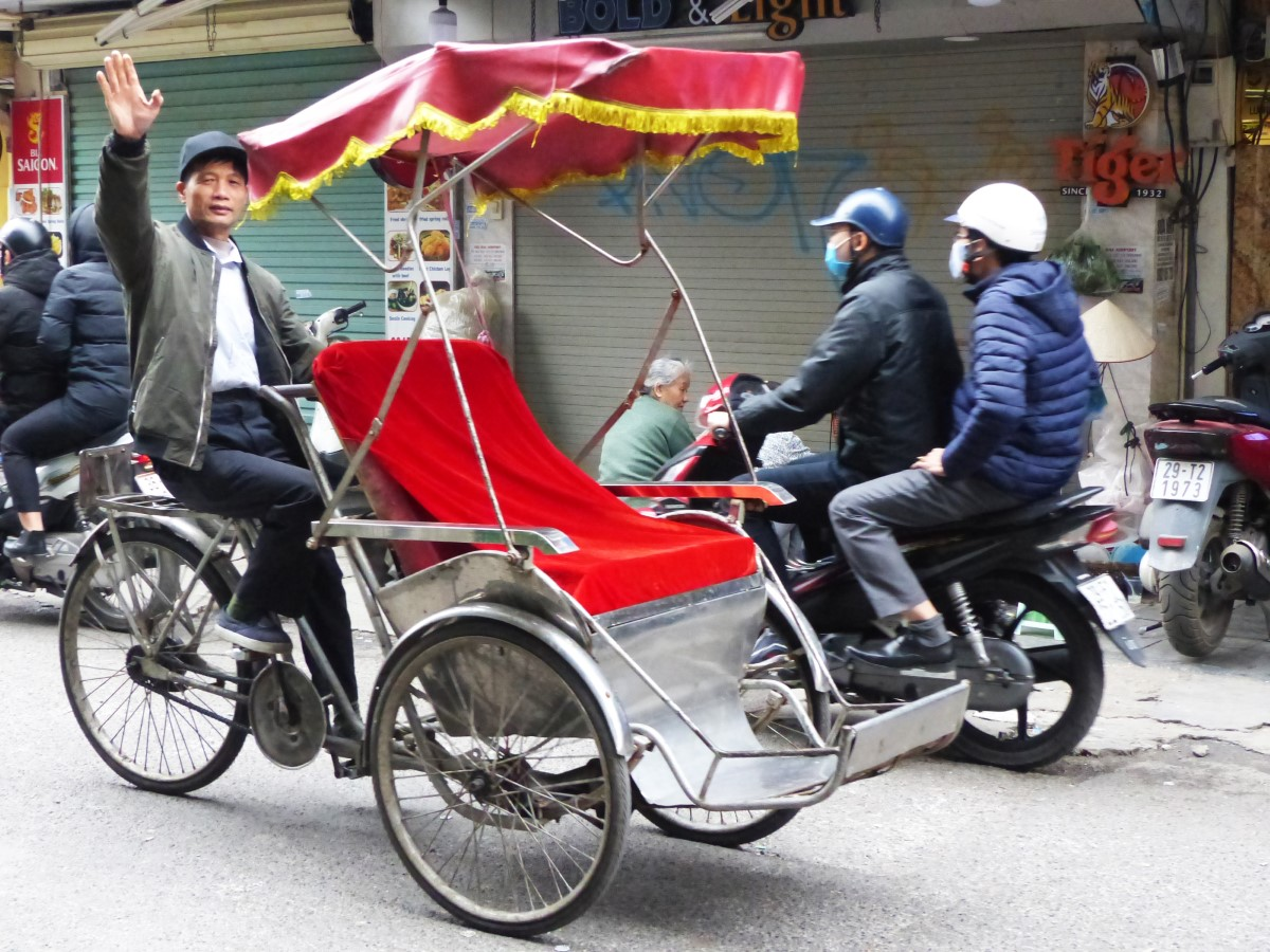 Cyclo-rickshaw with driver