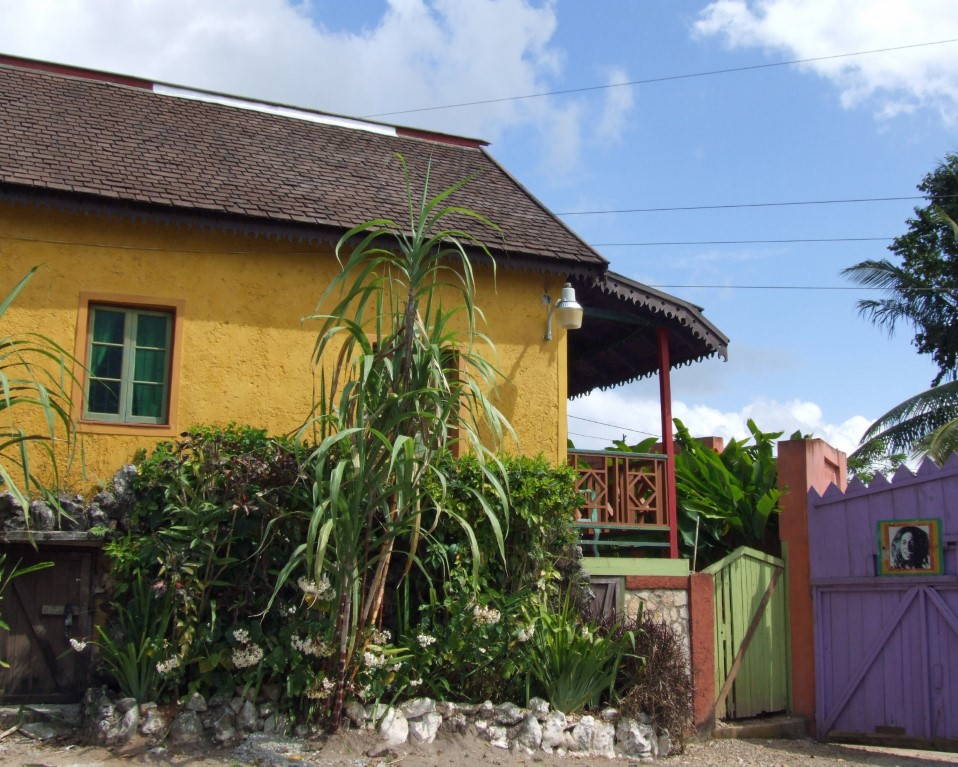 Yellow-painted house