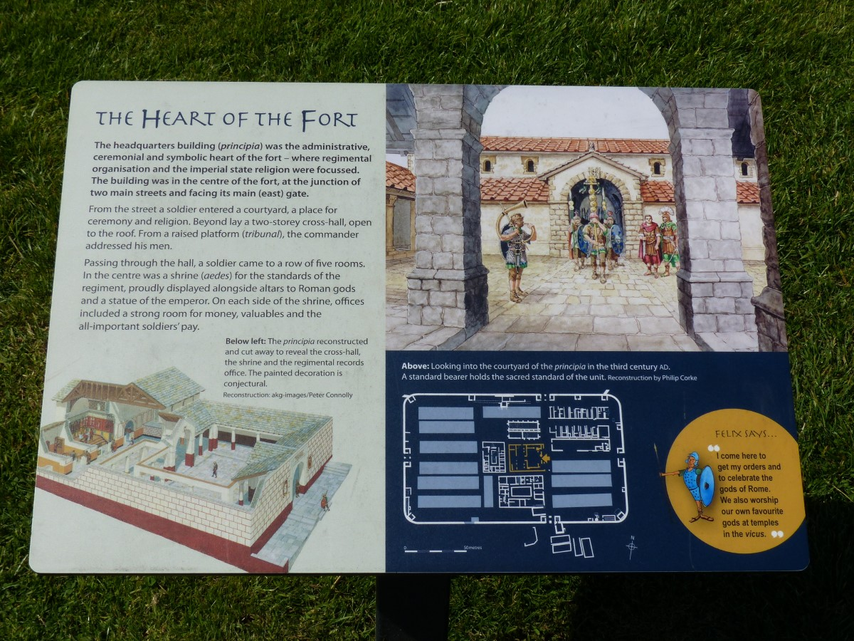 Information board about the fort HQ