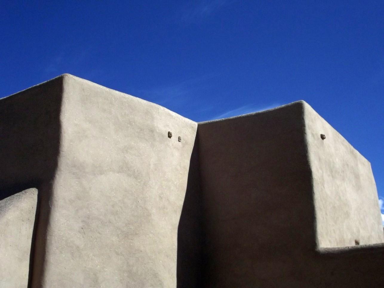 Angular adobe building