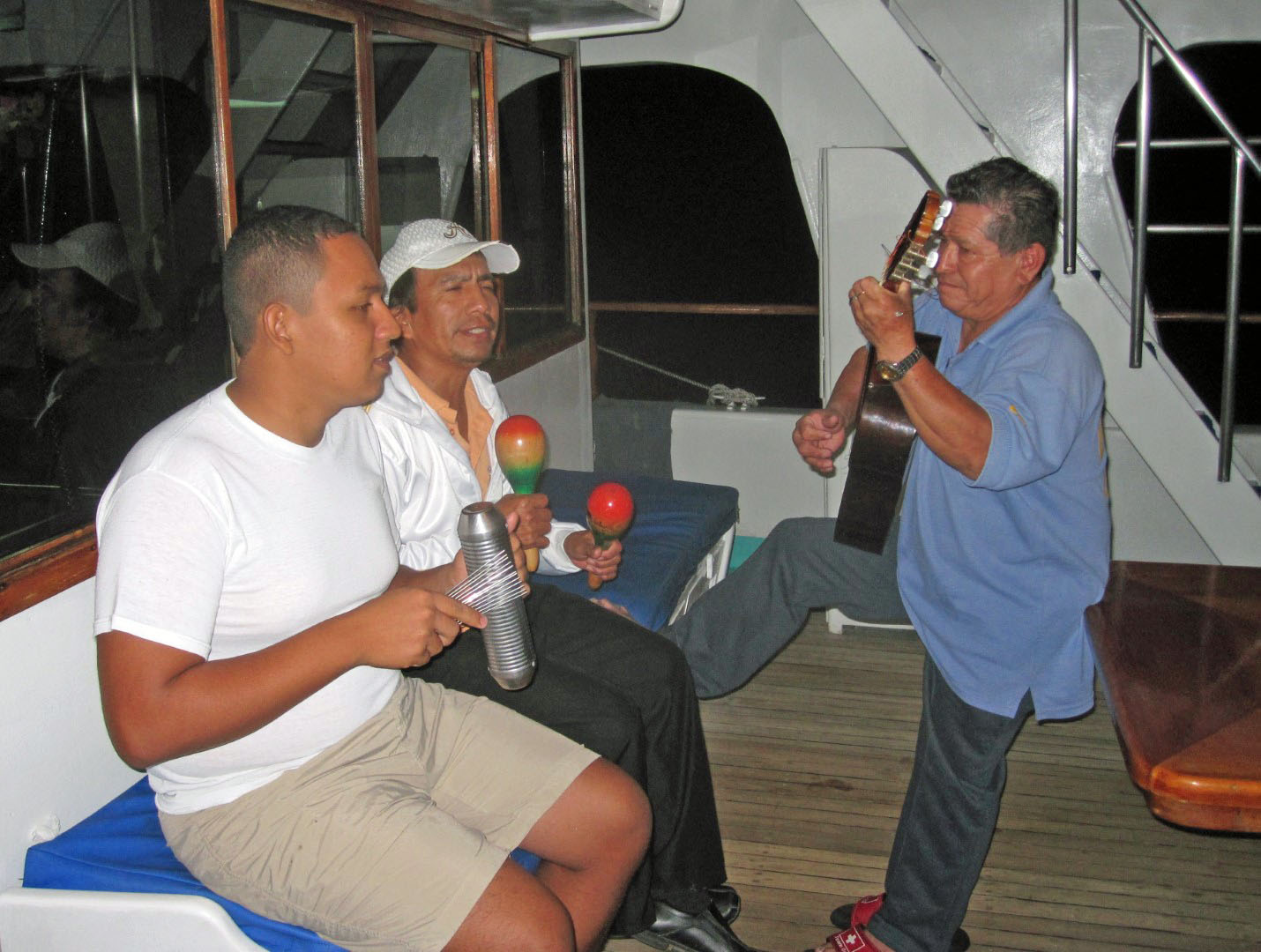 Men playing musical instruments