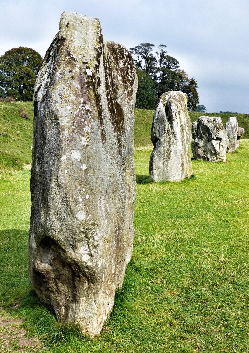Large megalithic stones in a field