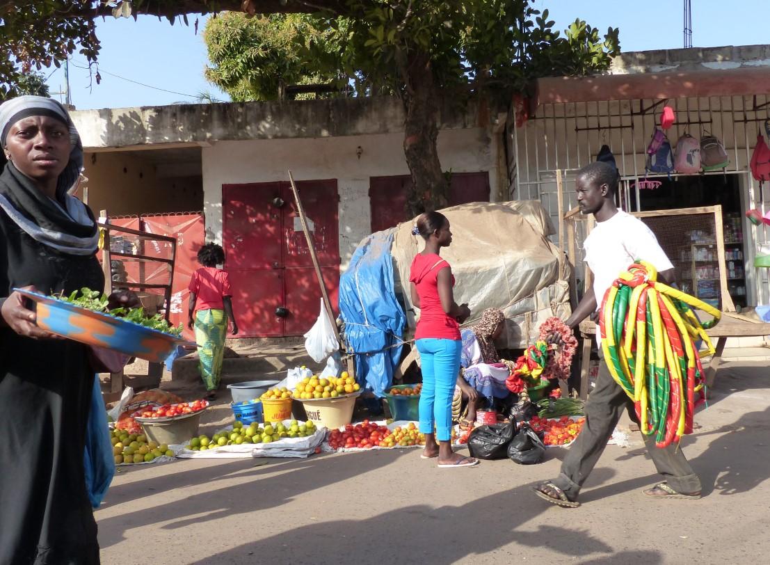 Street scene at an African market