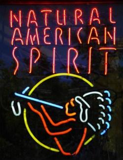 Neon sign, Natural American Spirit
