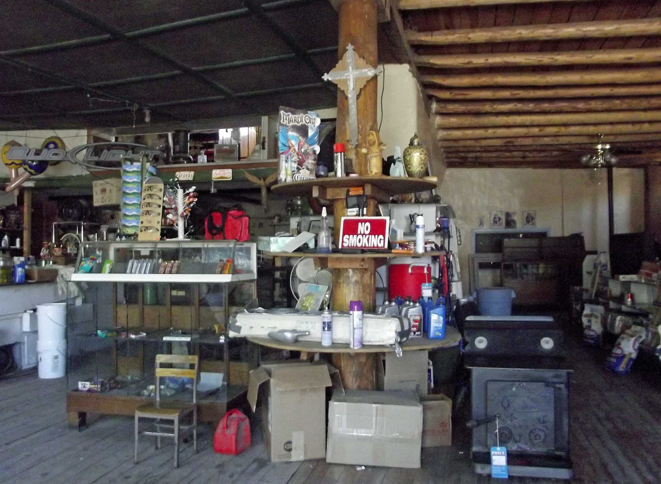 Cluttered old fashioned shop