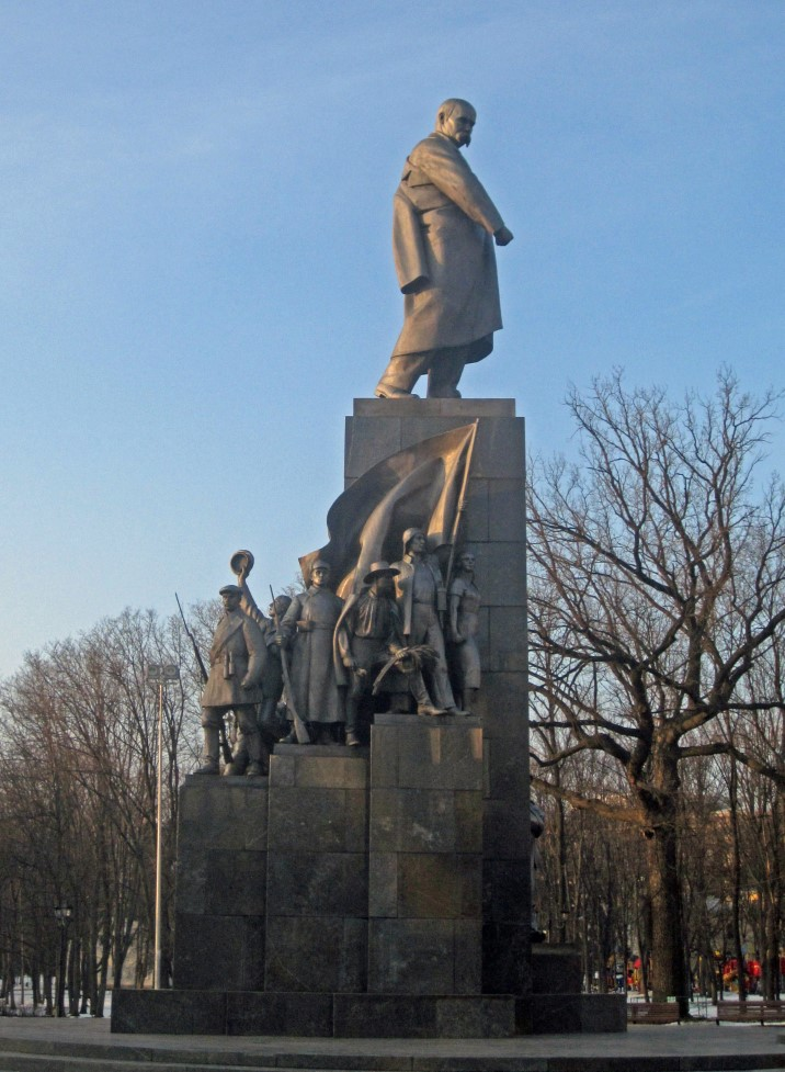Large monument with many figures