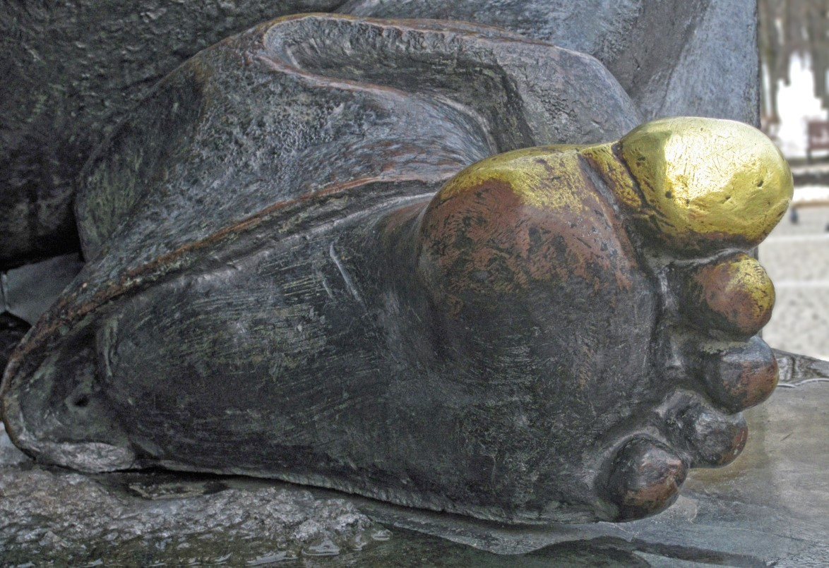 Detail of foot of a statue