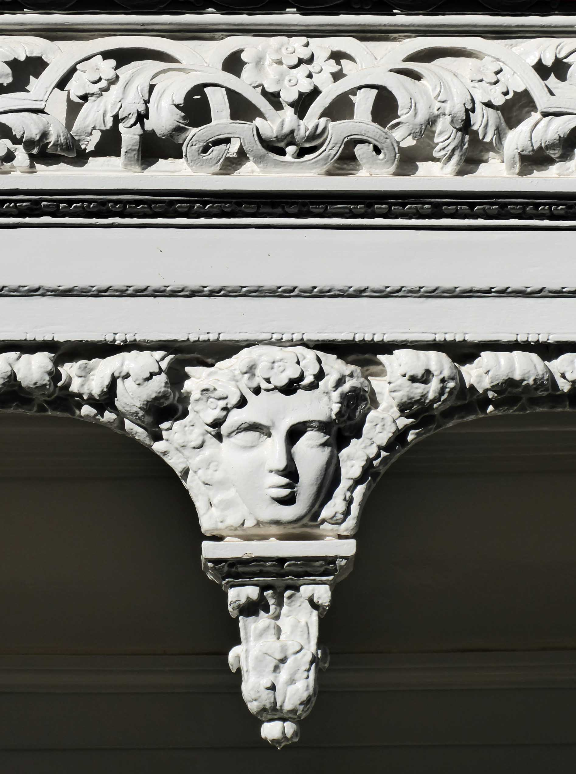 Ornate stone carving detail