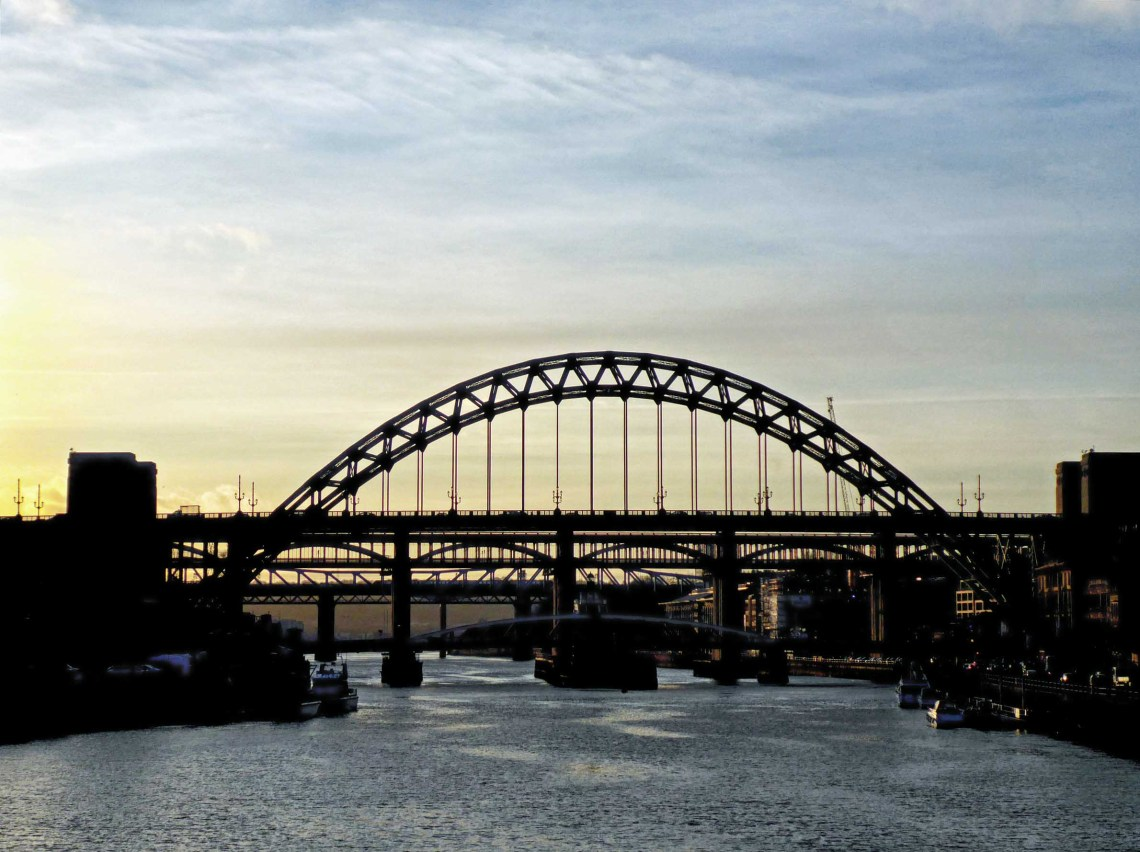 Several bridges over a river