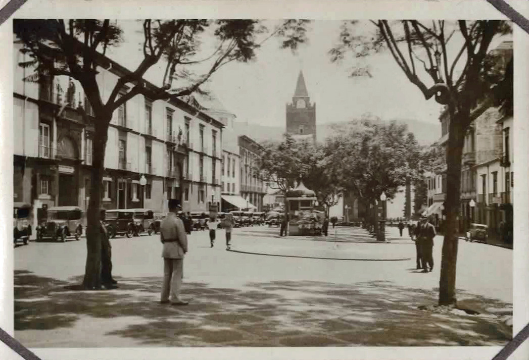 Old photo of town square