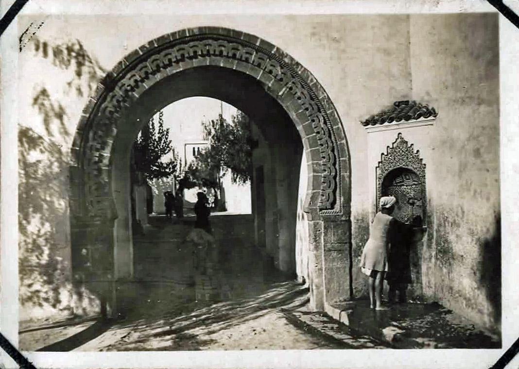 Old photo of ornamental gateway