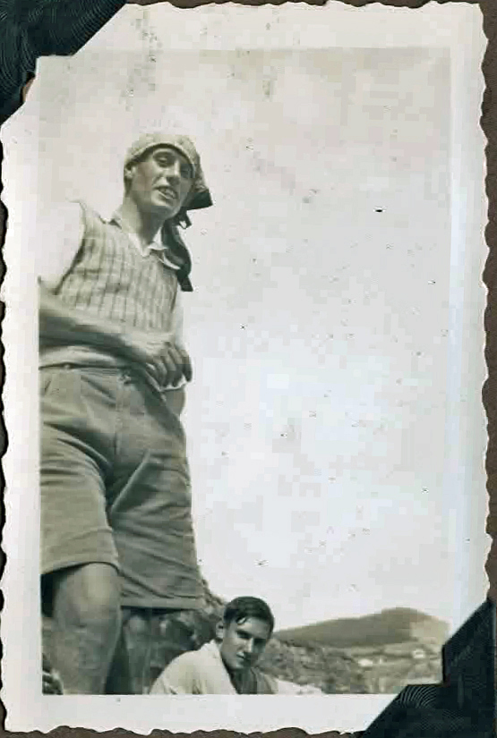 Old photo of two men