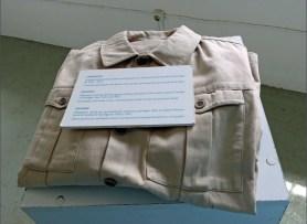 Folded beige uniform