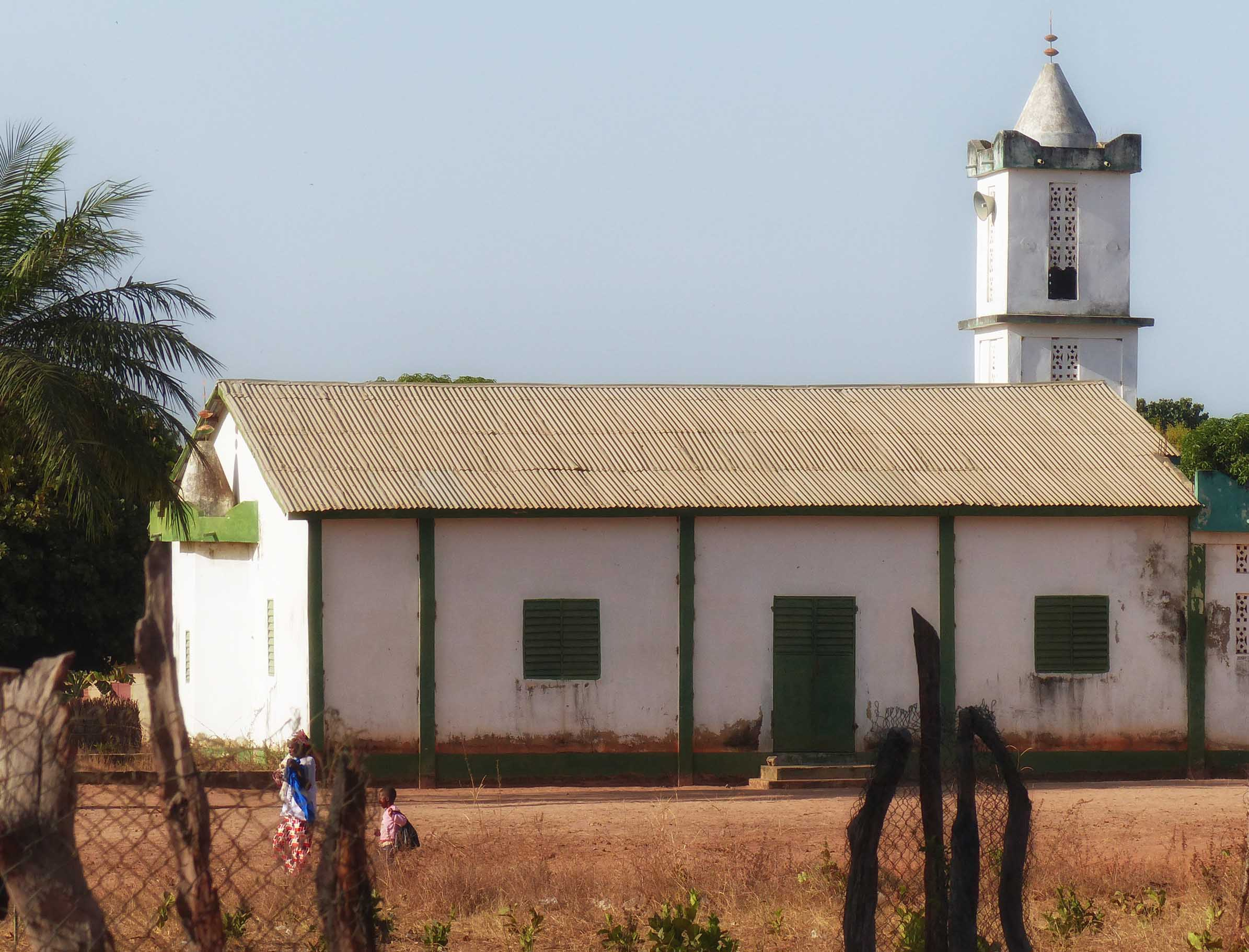 White church with corrugated iron roof