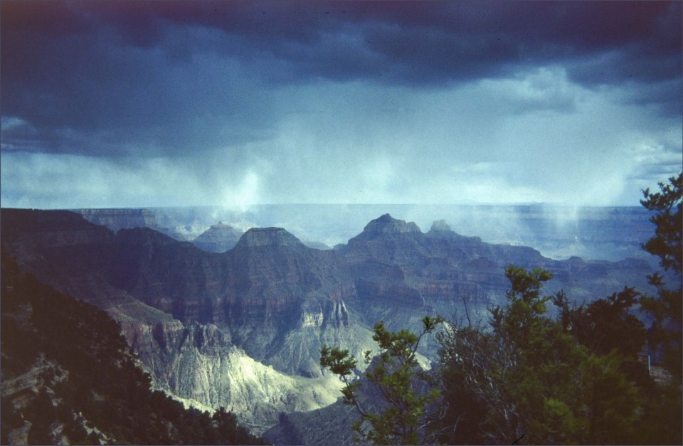 Storm over a canyon