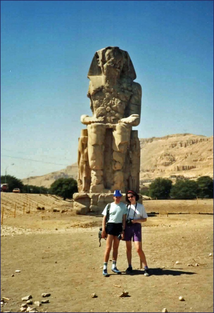 Huge crumbling statue