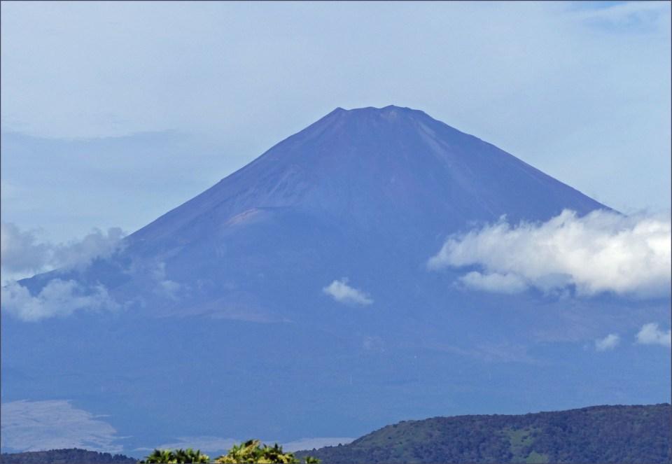 Shadowy blue volcano