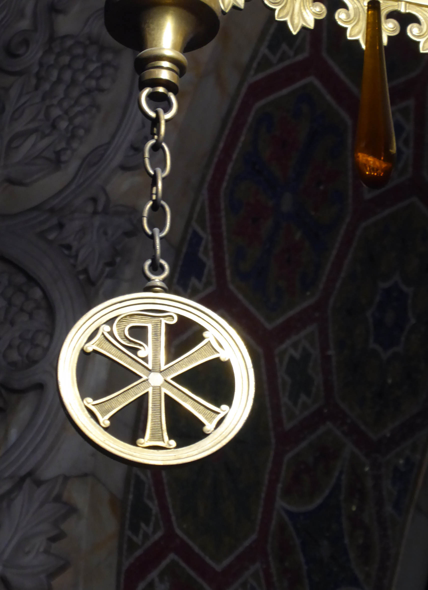 Detail of gold ornament in a cathedral