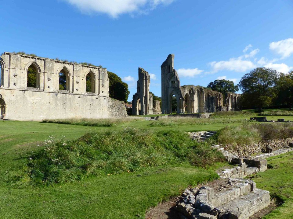 Church ruins on a summer day