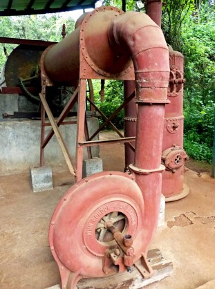 Machinery with large red pipes