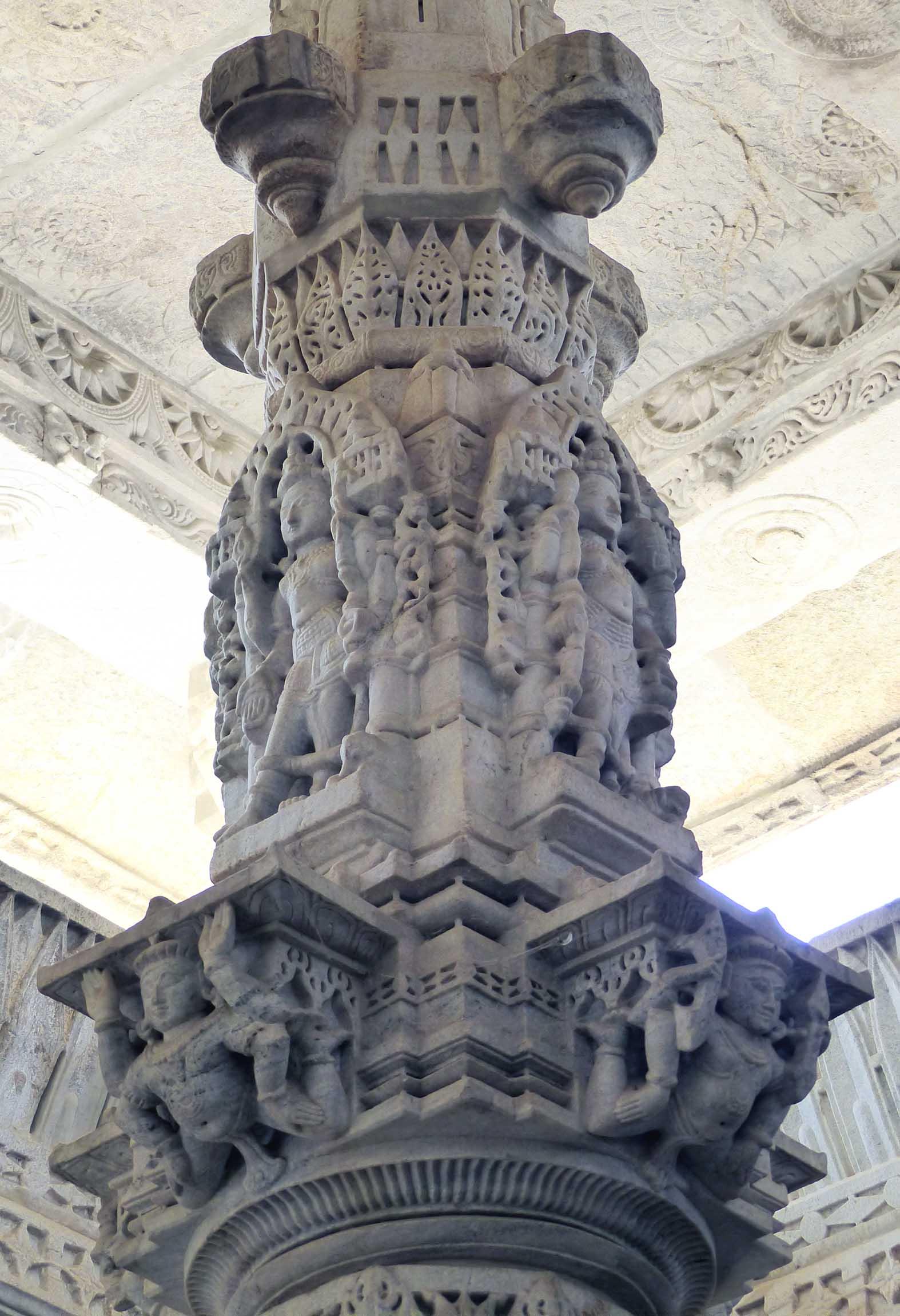 Ornate marble pillar