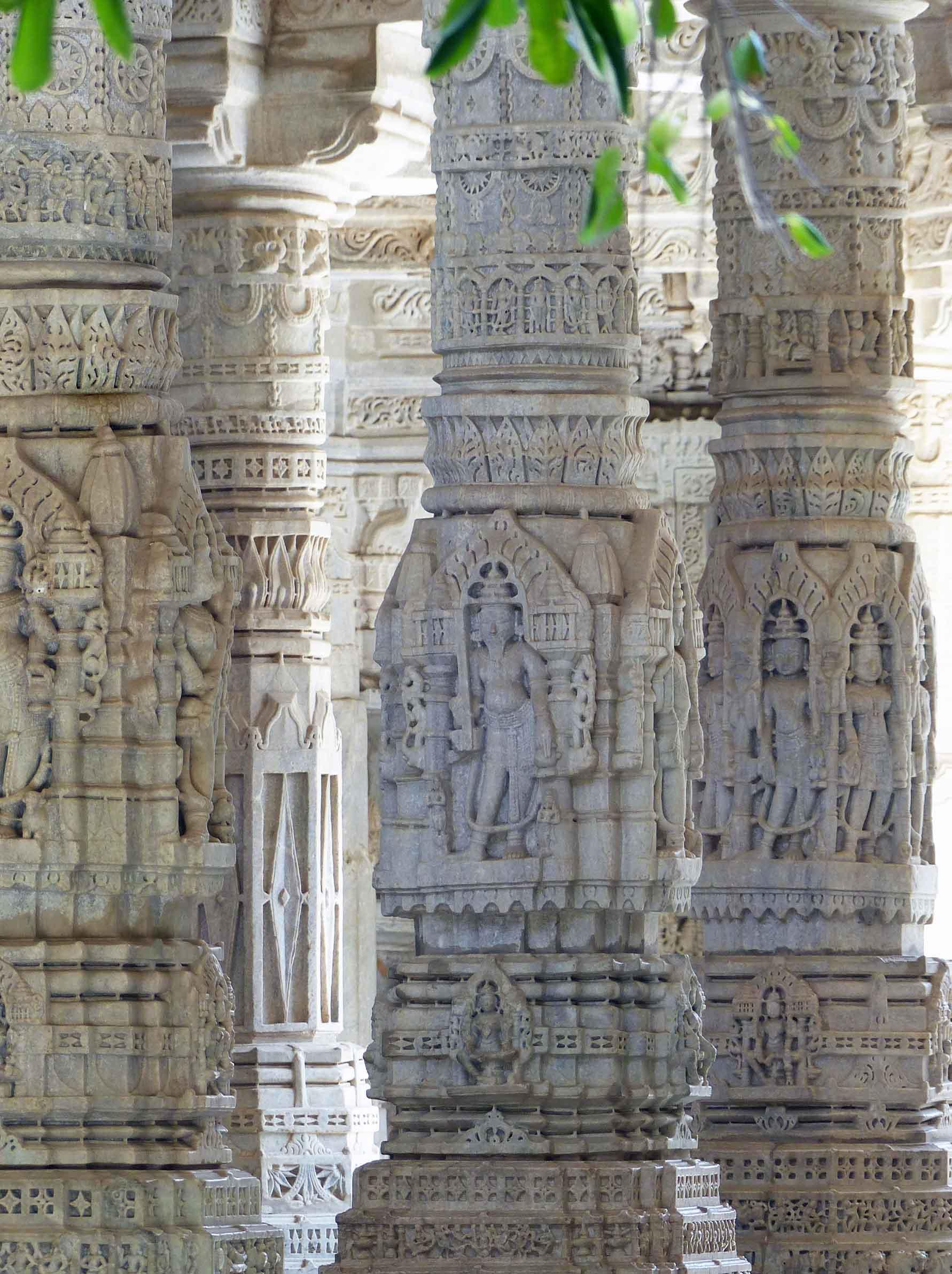 Ornate marble pillars