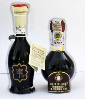 Two vinegar bottles