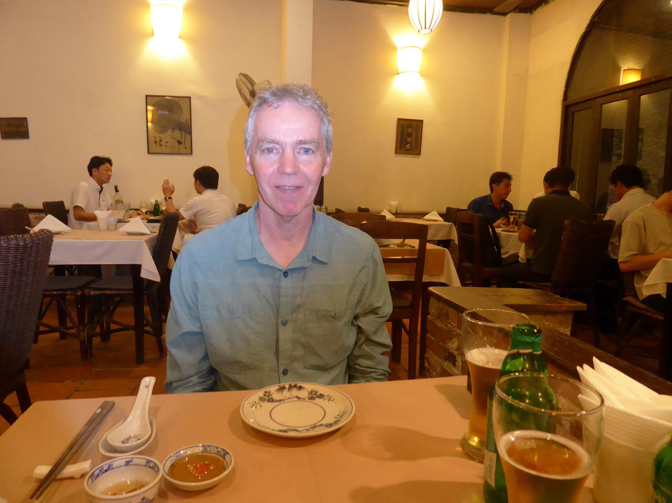 Man at a restaurant table