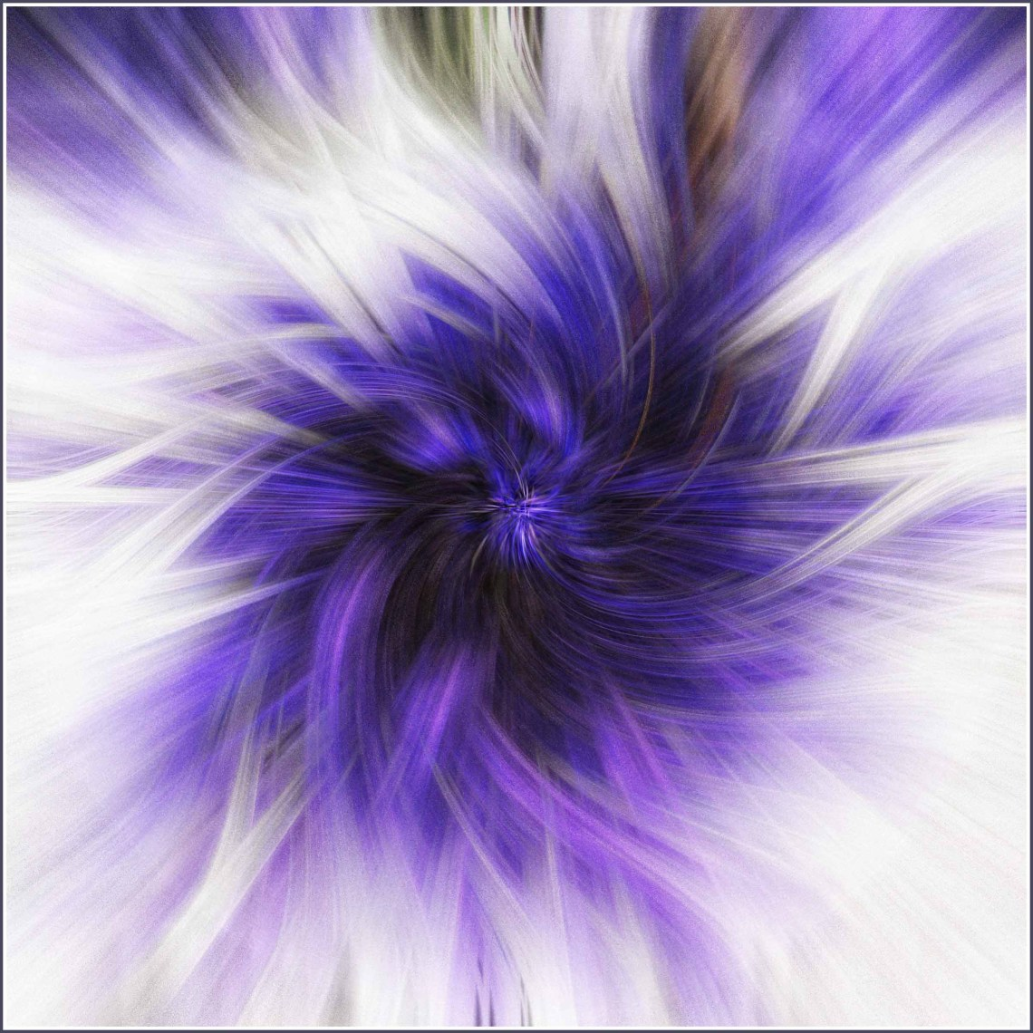 Blue and white twirl effect image