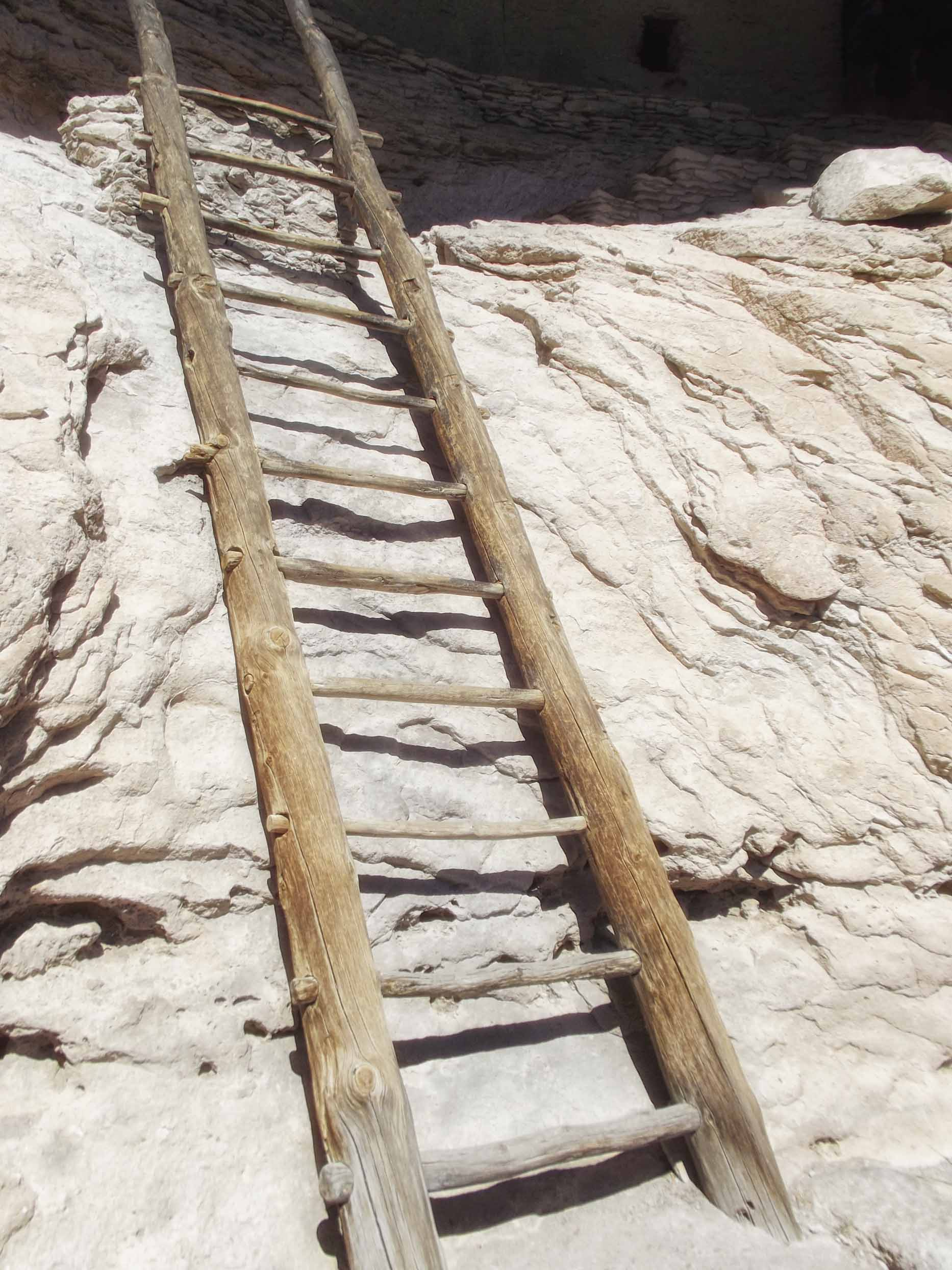 Simple wooden ladder