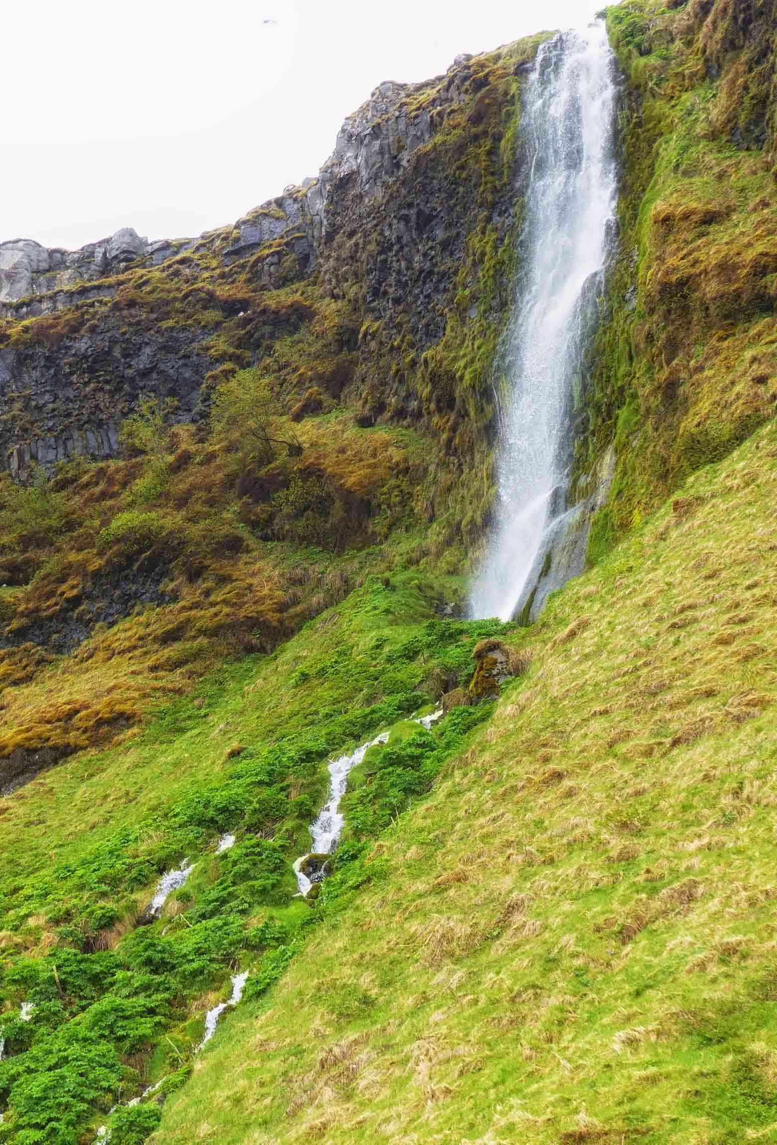 Slender veil-like waterfall