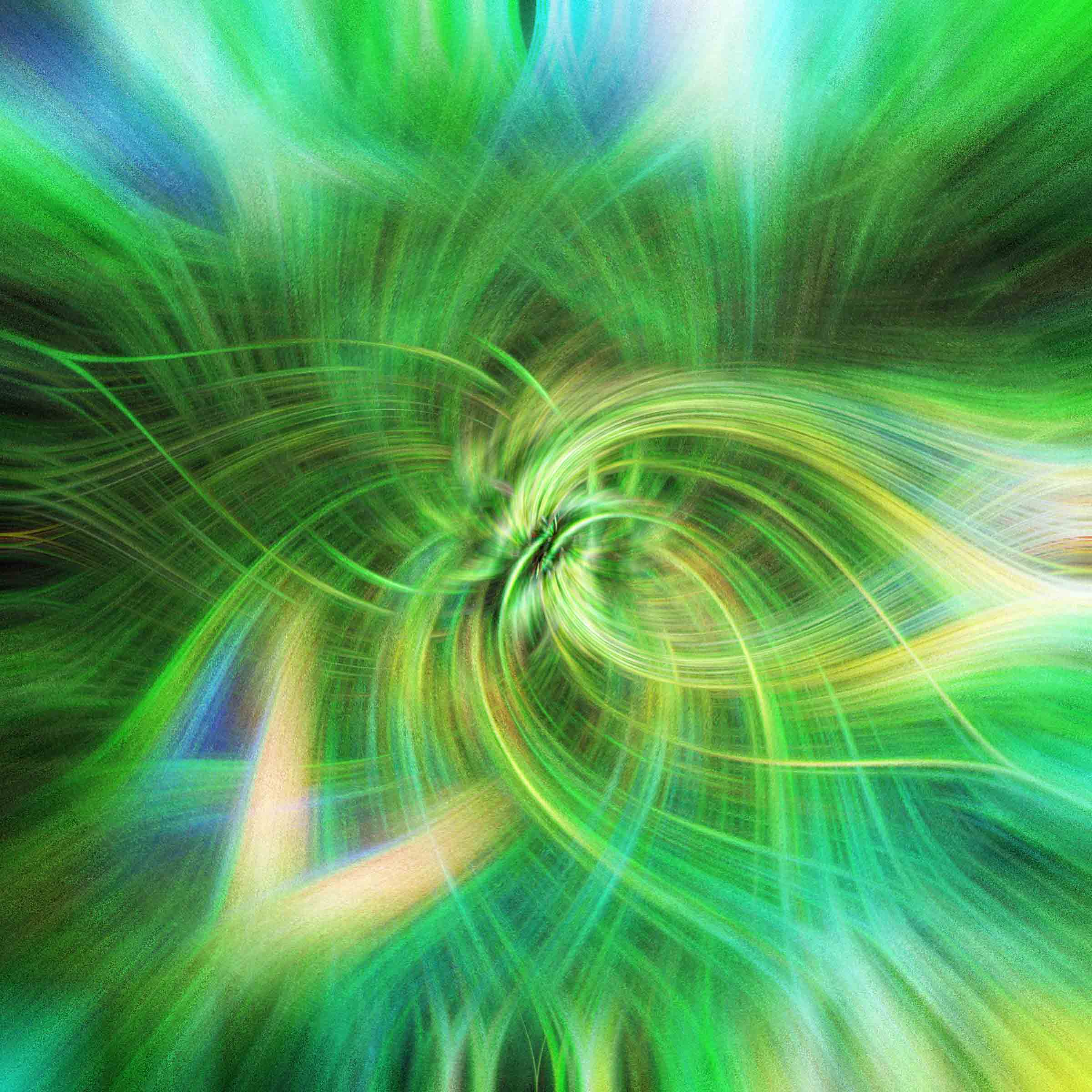 Green twirl effect image