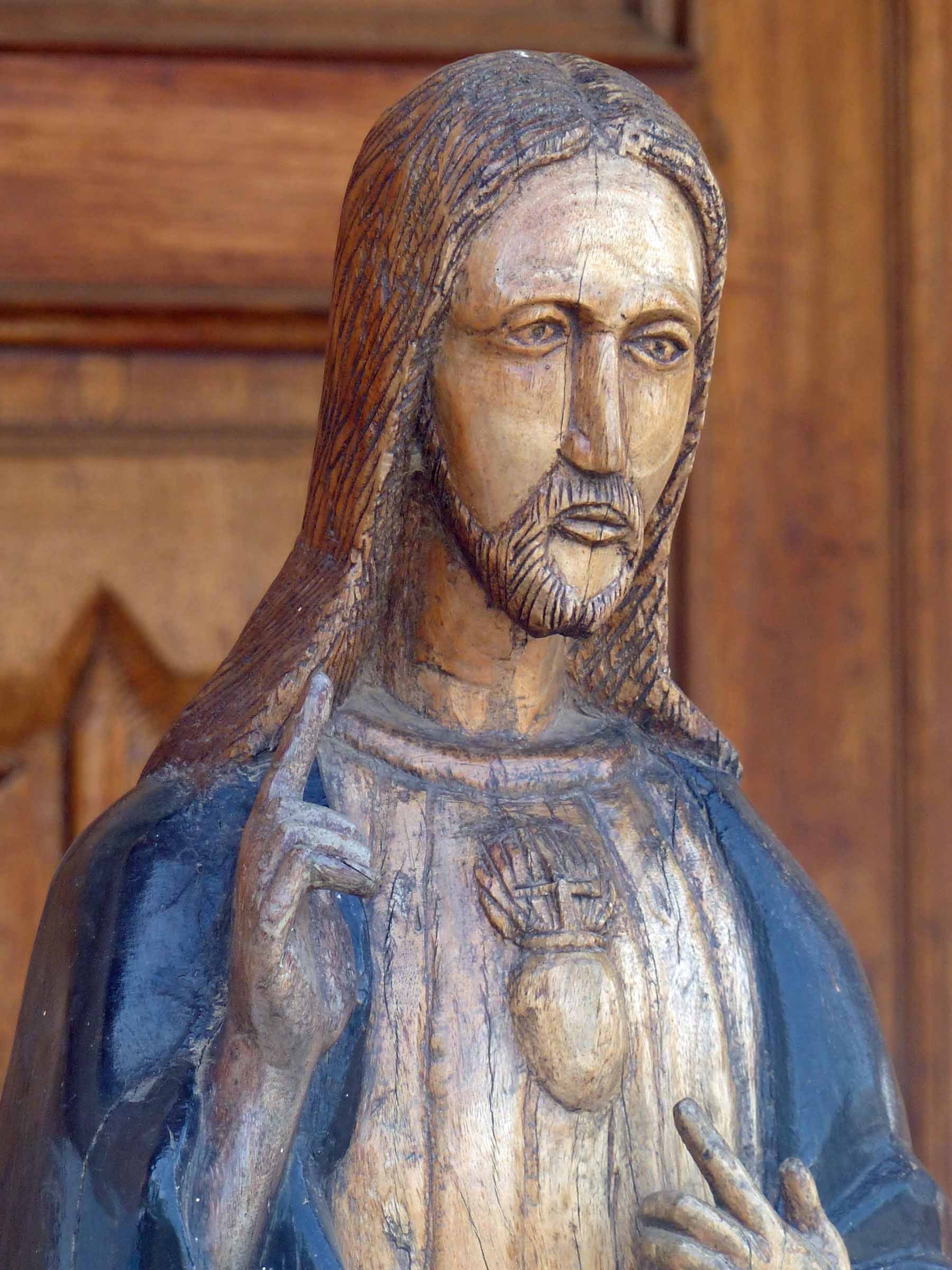 Wooden carving of Christ