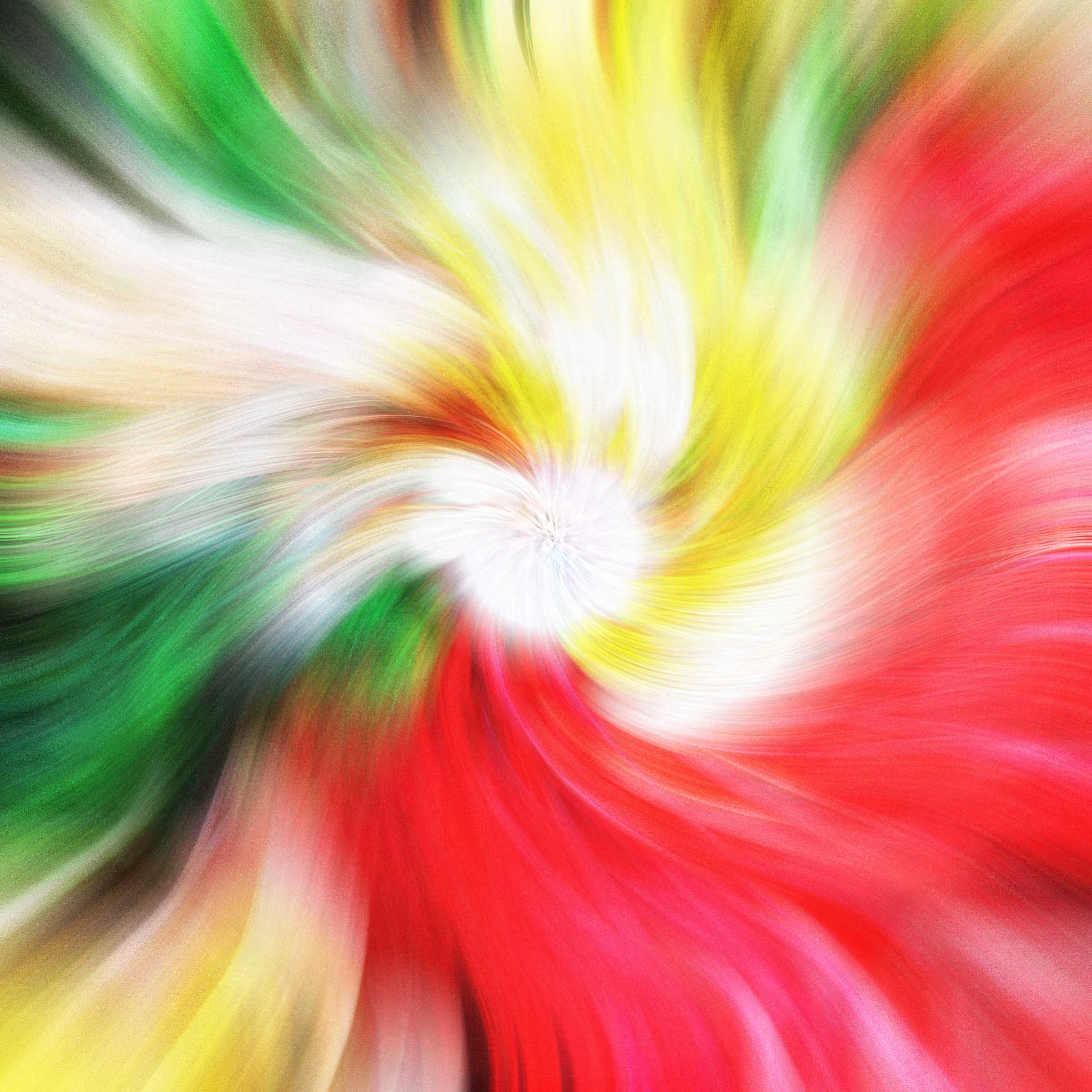 Green and red twirl effect image