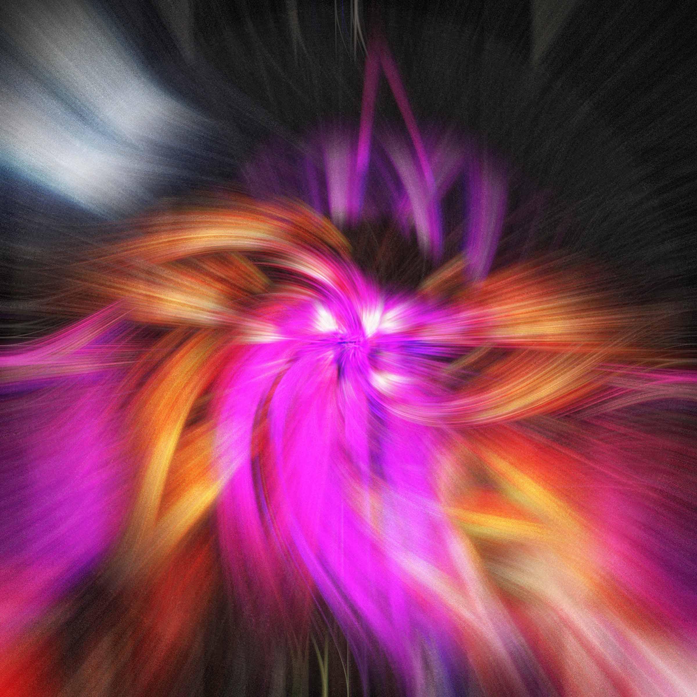 Purple and orange twirl effect image