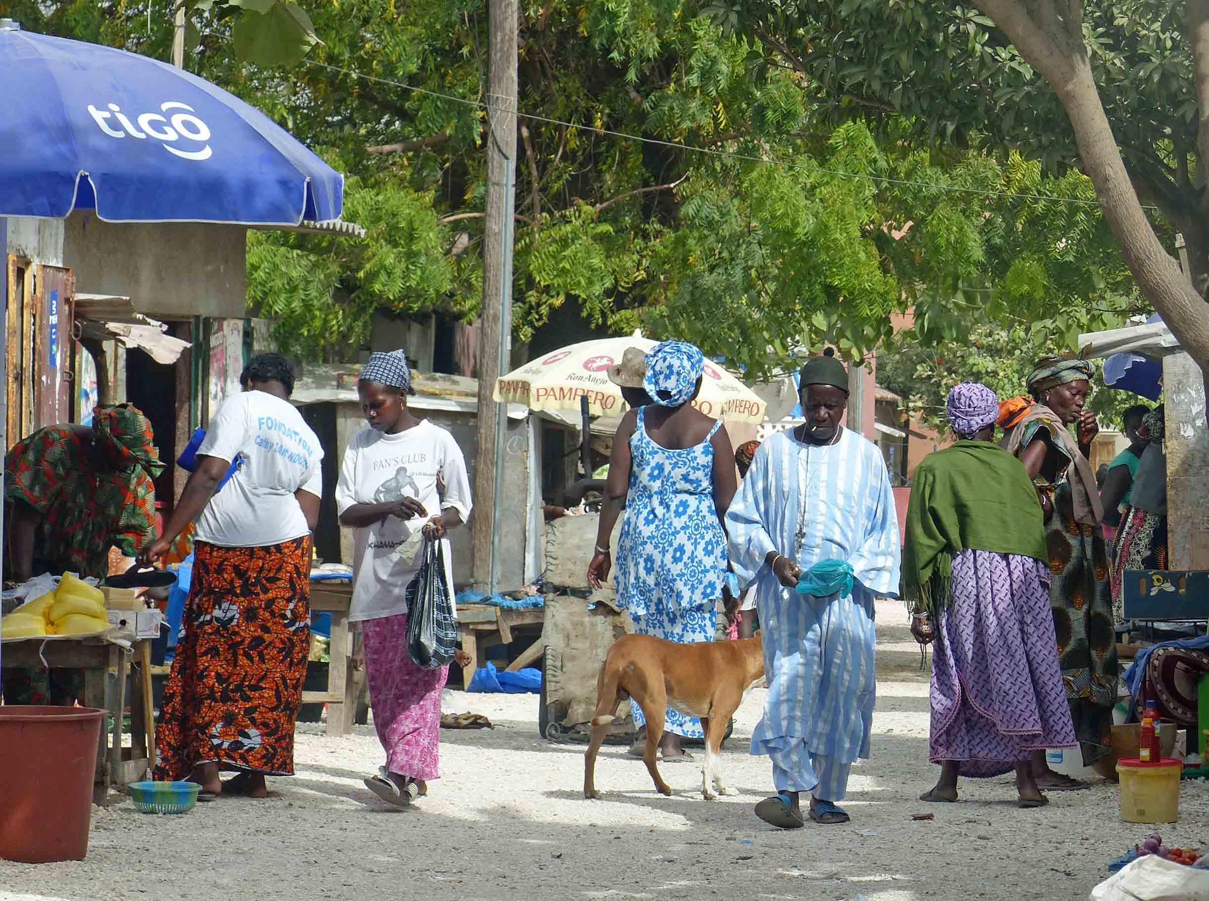 People shopping at stalls