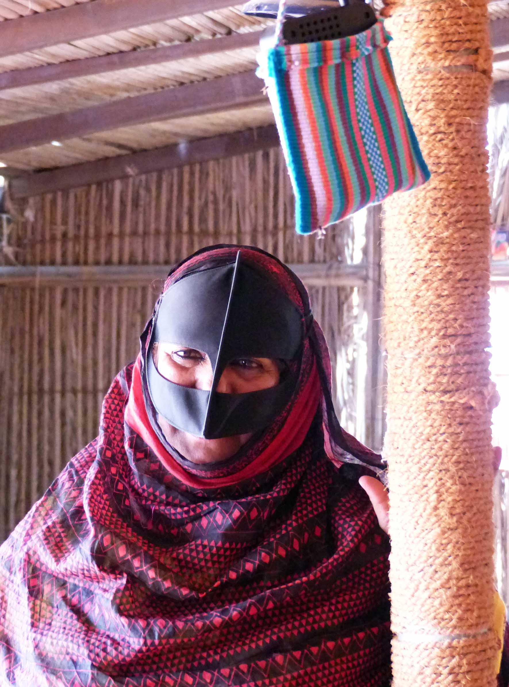 Lady in traditional Bedouin dress