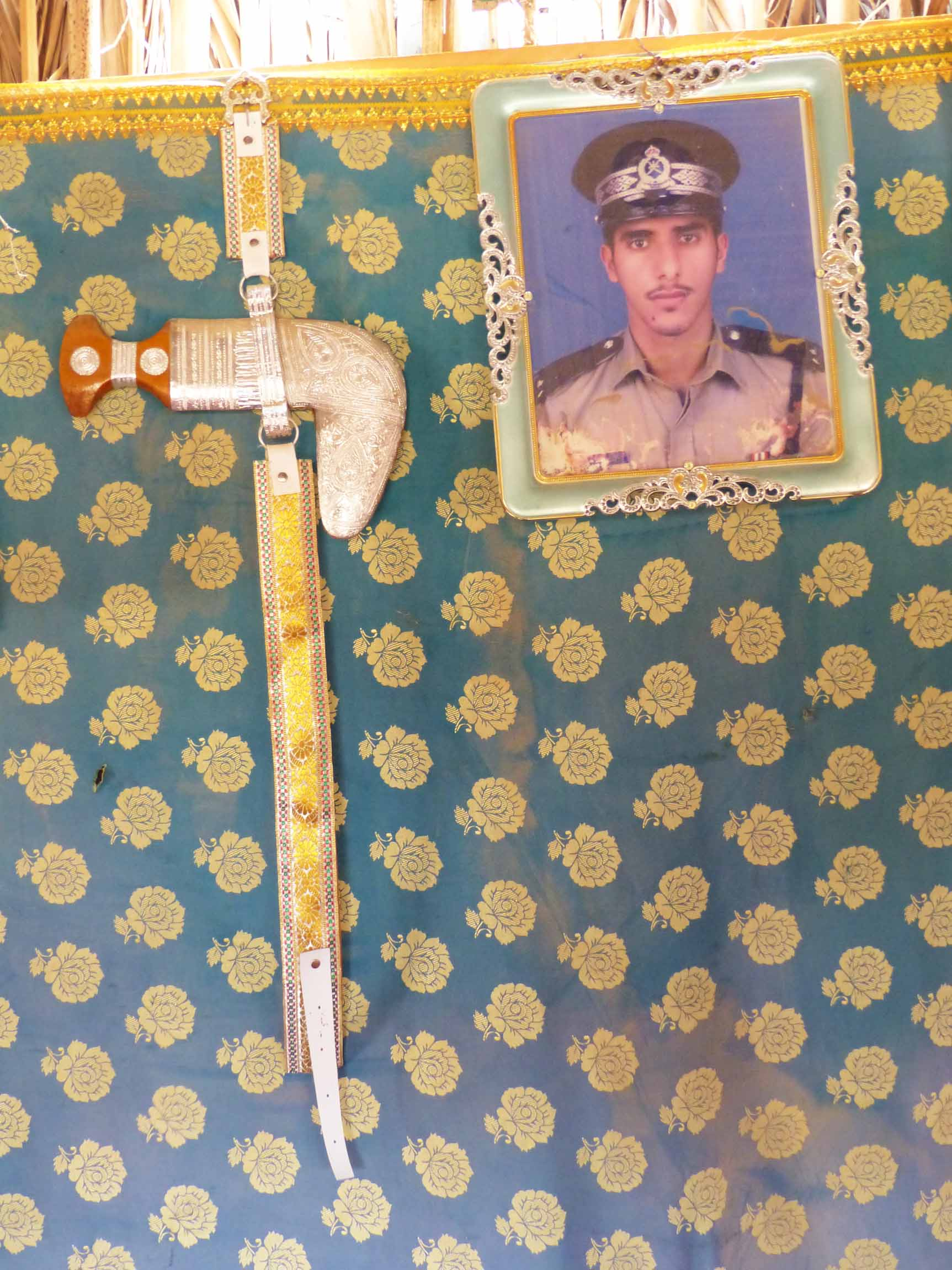 Knife and photo of a soldier
