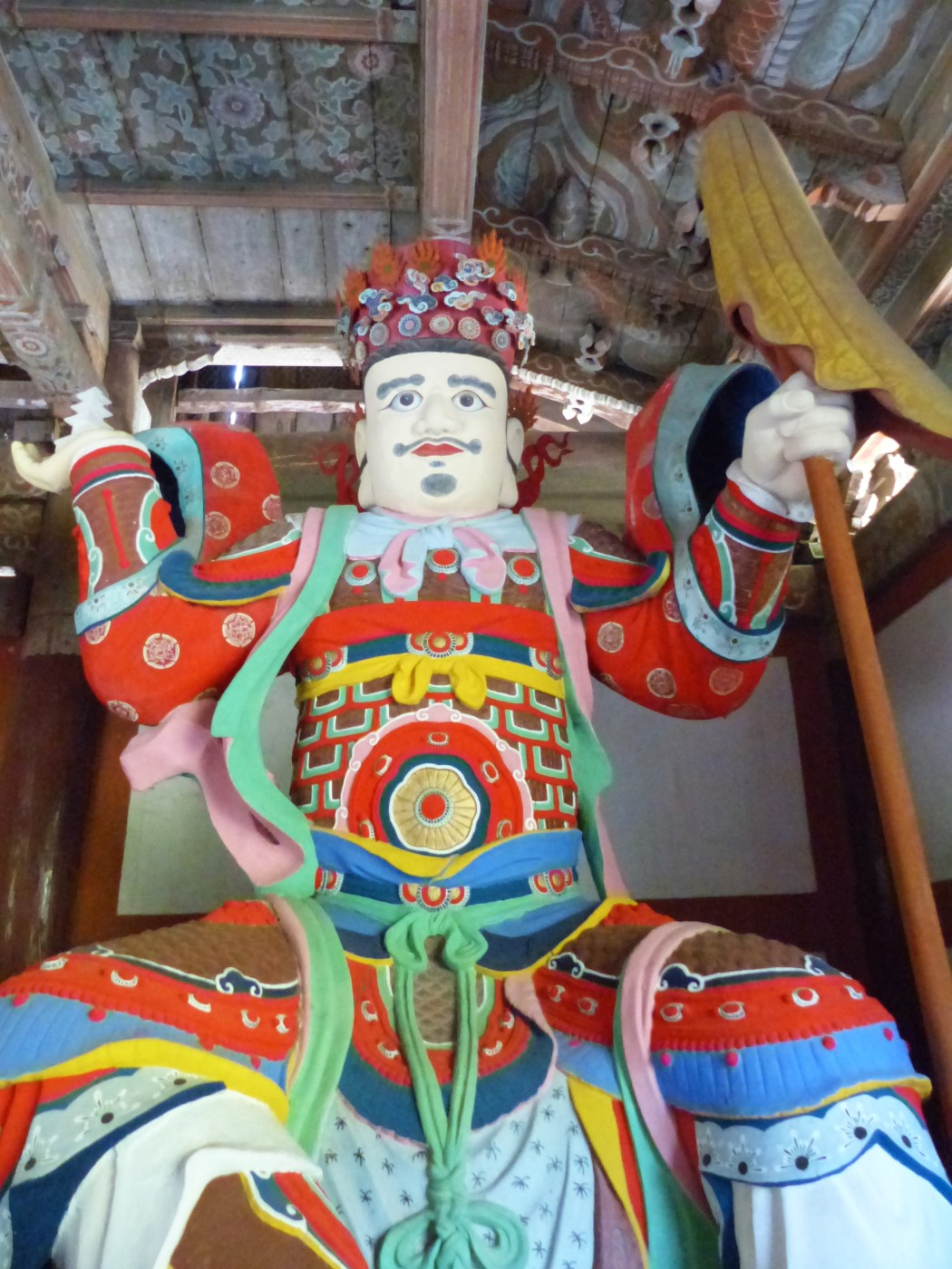 Colourful large statue of a king