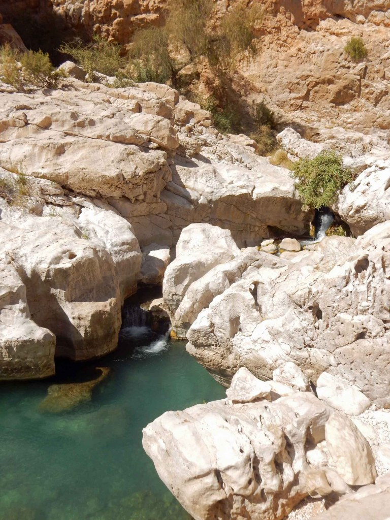 Stream running through rocks